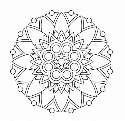 Mandala Coloring Pages Simple Easy Printable Getcolorings