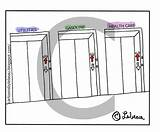Elevator Cartoon Going Printable Pages Template Cartoons sketch template