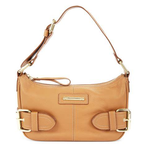 Franco Sarto Jolie Top Zip Shoulder Bag in Gold (camelot