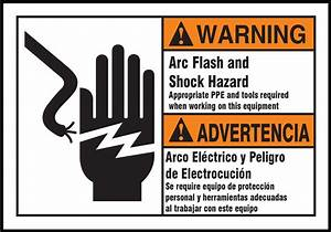 arc flash and shock hazard bilingual ansi warning labels With arc flash decals