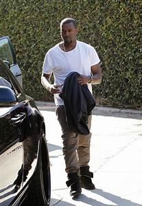 Kanye West Hopping in Rolls-Royce wearing Maison Martin ...