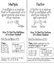 Factors and Multiples Foldable