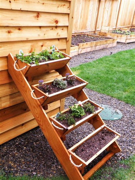 garden planter boxes vertical wooden box planter the owner builder network