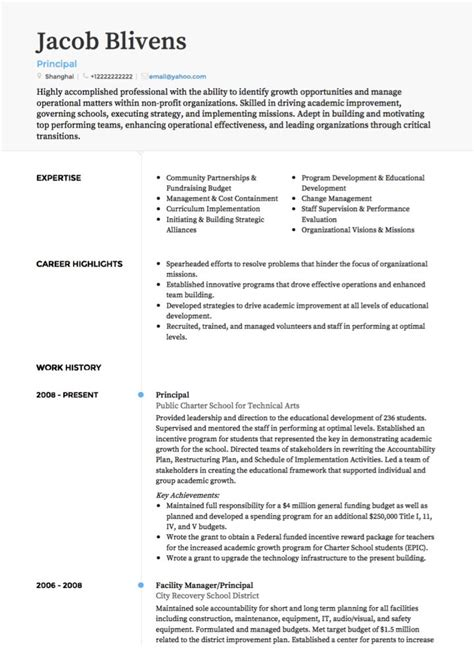 teacher cv examples templates visualcv