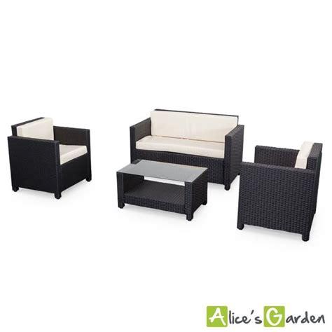 canapé de jardin pas cher salon de jardin s garden en résine tressée 4 places noir perugia fauteuil canapé la
