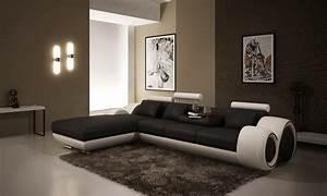 Canape D Angle Meridienne : deco in paris canape d angle avec meridienne noir et blanc oslo angle gauche can 4p ~ Teatrodelosmanantiales.com Idées de Décoration