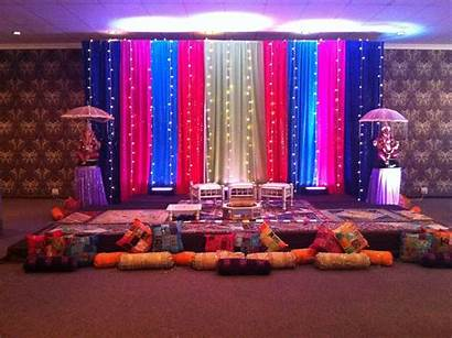 Indian Decorations Stage Simple Decor Night Backdrop