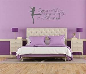 best 25 girls dance bedroom ideas on pinterest dance With ideas for wall decals for teenage girl