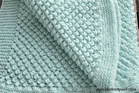 baby blanket patterns easy knitting patterns popcorn baby blanket peace but not quiet