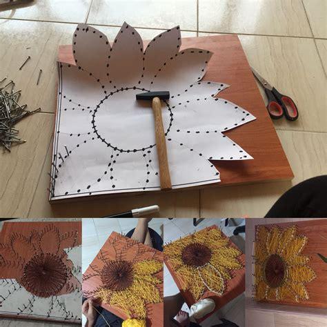 sunflower string art artofit