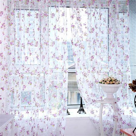 Trendy Drapes - trendy floral scarfs sheer voile door window curtains