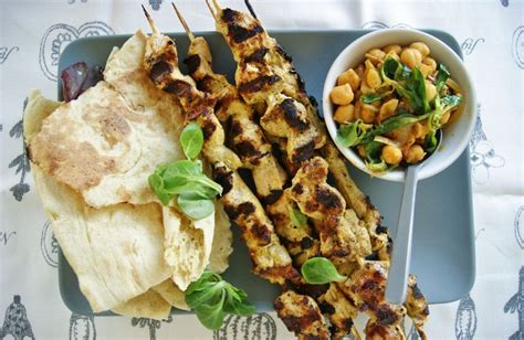 You can use themed dinners to add a little. Great saturday night dinner idea. Indian marinated chicken with chickpea stew and grilled nan ...
