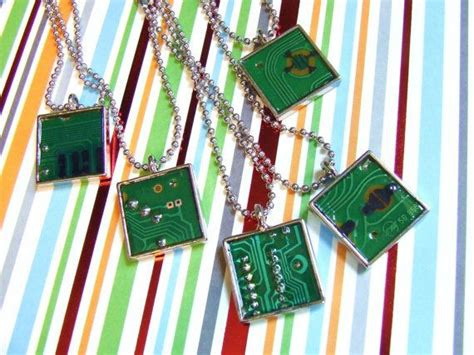 Circuit Board Necklaces Upcycle Recycpe Diy Reuse
