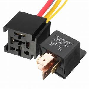 Mayitr Waterproof Black Car Relay 12v 80a 5pin Dc Amp Spdt