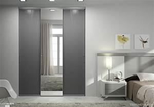 ordinaire poser porte placard coulissante 3 portes de With poser porte coulissante placard