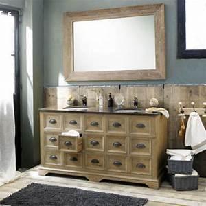 Meuble De Salle De Bain Maison Du Monde : meuble de salle de bains 20 salles de bains design au go t du jour c t maison ~ Melissatoandfro.com Idées de Décoration