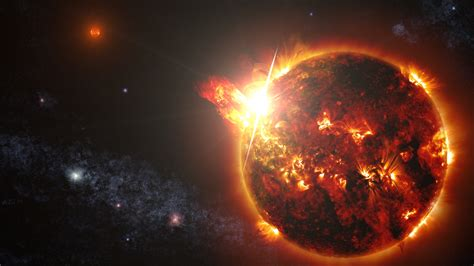 solar flare storm sun space star fire psychedelic