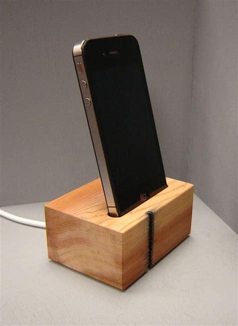 wooden iphone station wooden iphone station in western cedar