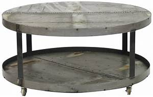 Coffee tables ideas best round metal coffee table base for Gray wood and metal coffee table