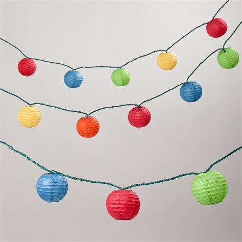 multi color paper 10 bulb string lights world market