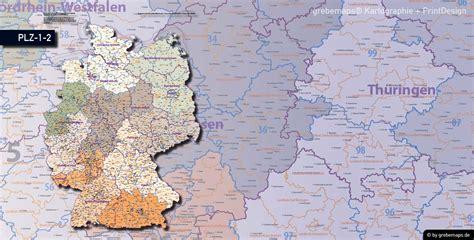 postleitzahlen karte deutschland grebemaps kartographie