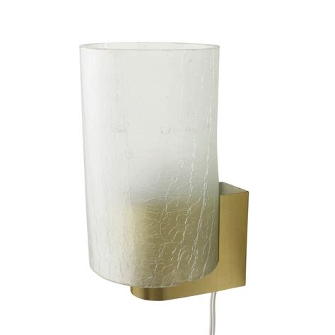 modern wall light with frosted glass by philips