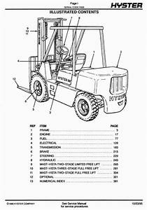 Original Illustrated Factory Spare Parts List For Hyster Forklift Truck F005 Series Original