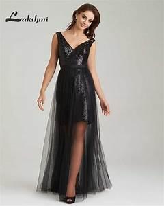 fashion v neck black detachable skirt bridesmaid dresses With wedding maid of honor dresses