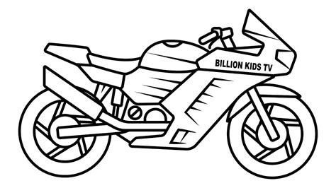coloring pages clipart motorcycle  clipart