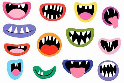 Mouth Monster Teeth Mouths Clipart Clip Funny