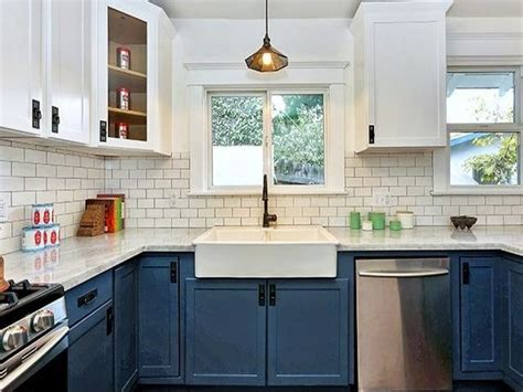 Kitchen cabinets two colors, kitchen cabinets with white