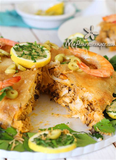 cuisine marocaine pastilla aux fruits de mer pastilla au poisson et aux fruits de mer
