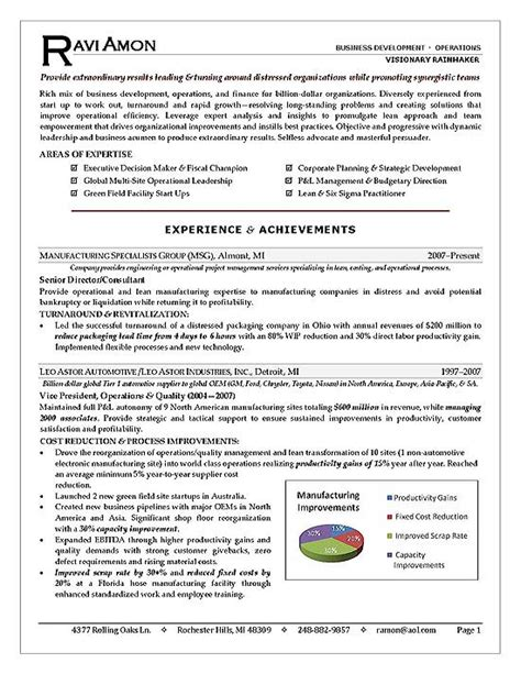 curriculum vitae templates for word business operations executive resume exle