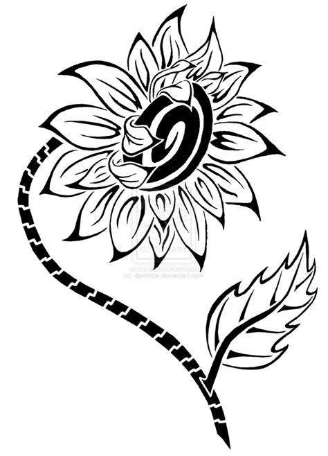 sunflower tattoo outline - Best Tattoo