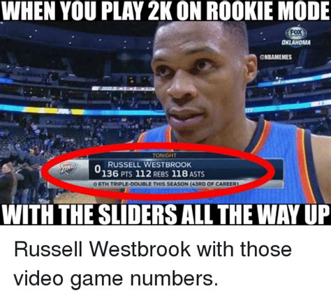 Russell Westbrook Meme - oklahoma tonight russell westbrook 136 pts 112 rebs 118 asts o 6th triple double this season