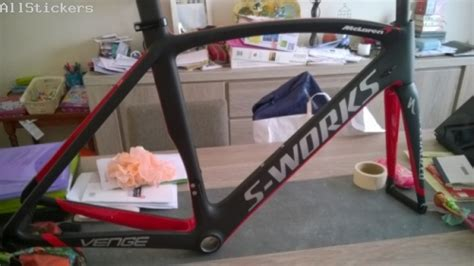 cadre s works venge galerie allstickers fr stickers pour cycles lettrage specialized s works venge mclaren 2k13