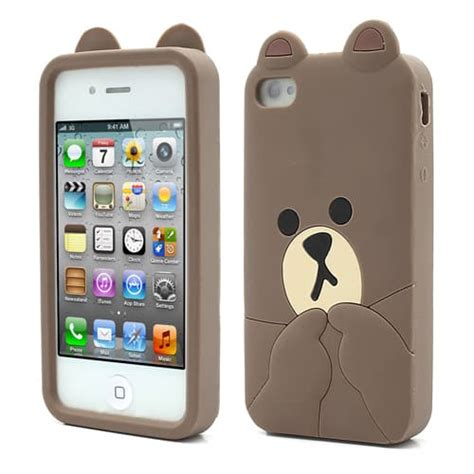 iphone four cases brown iphone 4 5 kawaii 1296