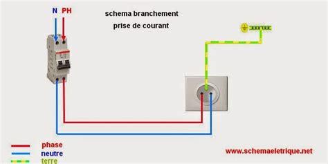 branchement electrique cuisine schéma de branchement prise électrique norme montage prise