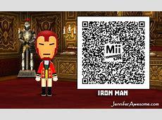 Super Smash Bros and Tomodachi Life Iron Man QR Code