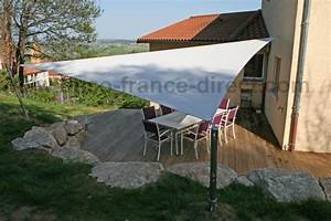 toile bache pergola voile ombrage store banne With toile tendue exterieur terrasse