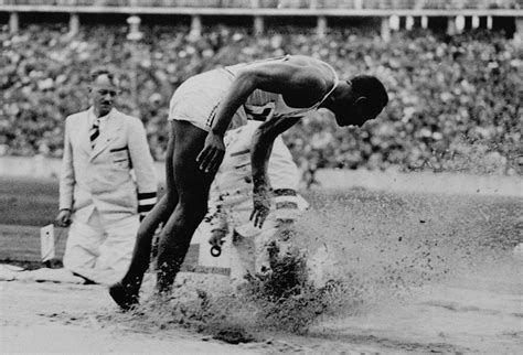 jesse owens wins gold   long jump   summer