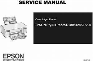 Epson R280  R285  R290 Printer Service Repair Manual