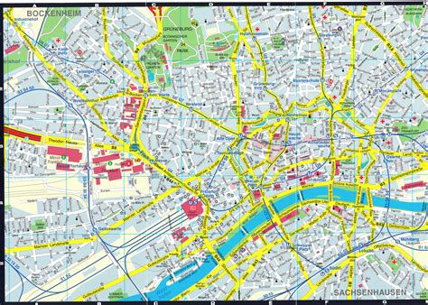 frankfurt map toursmapscom