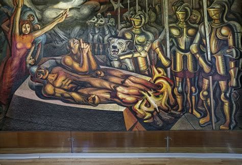 david alfaro siqueiros murales bellas artes tormento de cuauht 233 moc por david alfaro siqueiros 1950