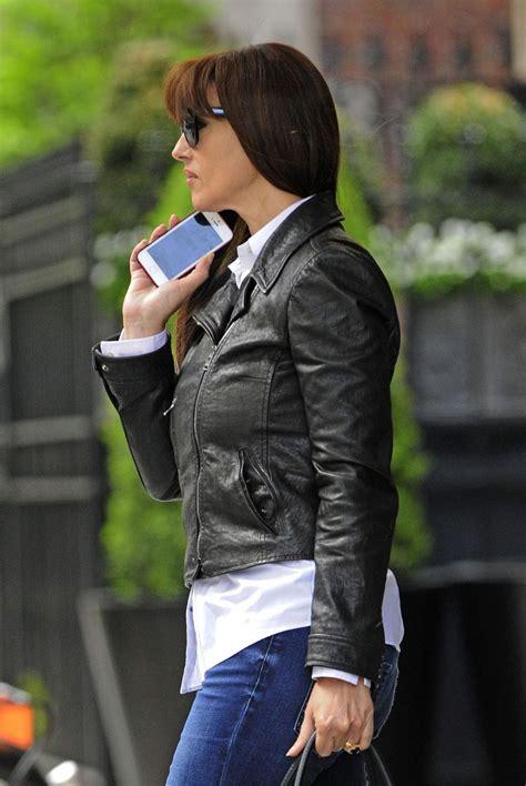 monica bellucci  jeans leaving  hotel   york