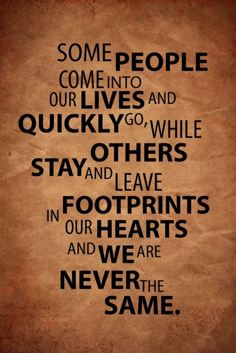 Quotes Footprints On My Heart