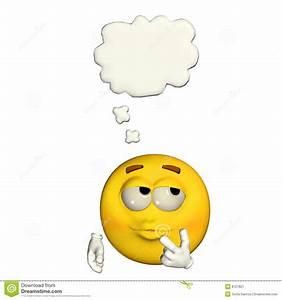 Emoticon - Thinking Stock Image - Image: 8727821