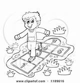 Hop Clipart Playing Boy Scotch Happy Cartoon Outlined Hopscotch Playground Visekart Royalty Vector Rf Illustrations 2021 Clipartof sketch template