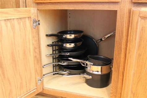 kitchen storage for pots and pans kitchen organizing ideas 9597