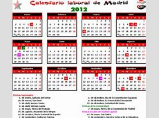 CALENDARIO LABORAL Madrid CGT jardineria Madrid
